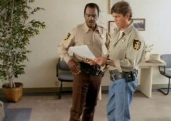Officer Mom Jeans and Black Cop consult on the case...